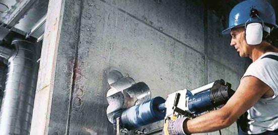 Алмазное бурение отверстий в бетоне