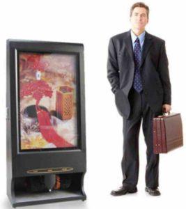 Бизнес на машинках для чистки обуви с показом рекламы