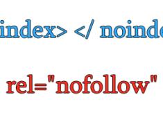 Теги nofollow и noindex