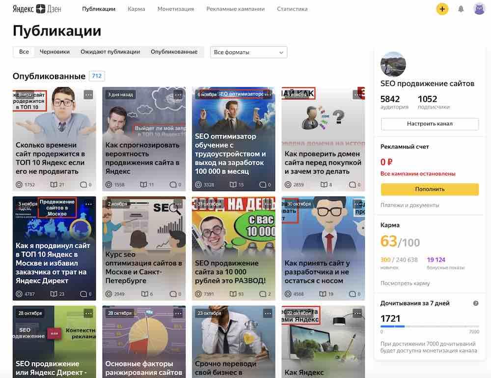 Что выгоднее вести сайт или канал Яндекс Дзен