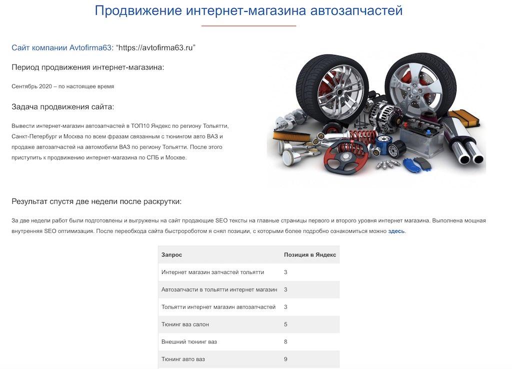 Продвижение интернет магазина по продаже аккумуляторов
