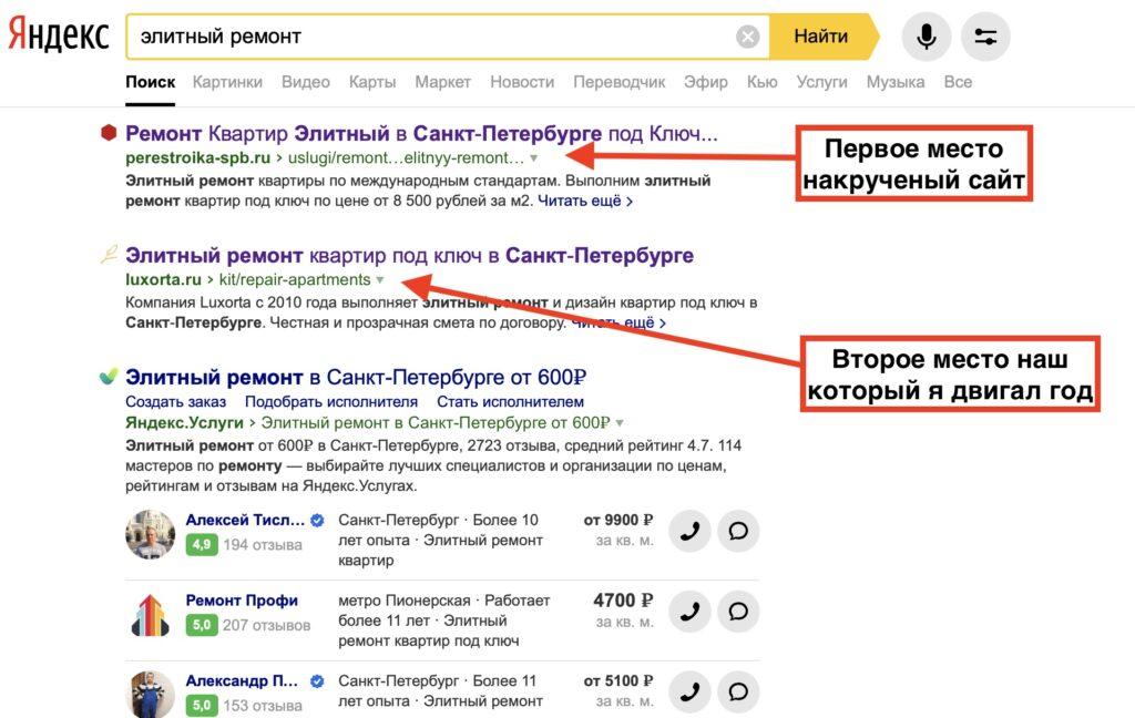 Яндекса не видит накрутку