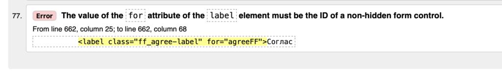 Сайт с ошибками в HTML коде